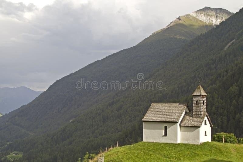 Mountain Chapel in Virgen stock photos