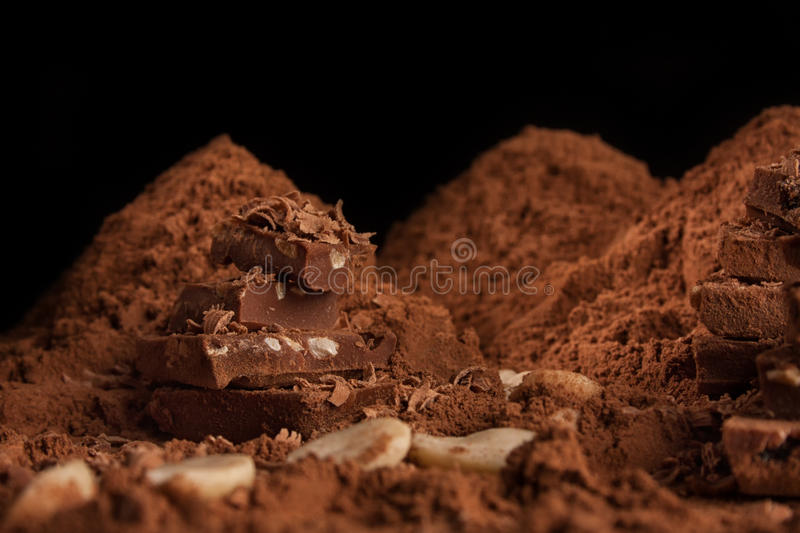 Download Mountain of chocolate stock image. Image of love, ingredient - 83701283