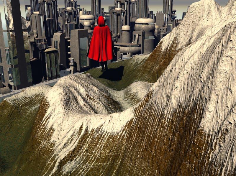 Mountain City vector illustration