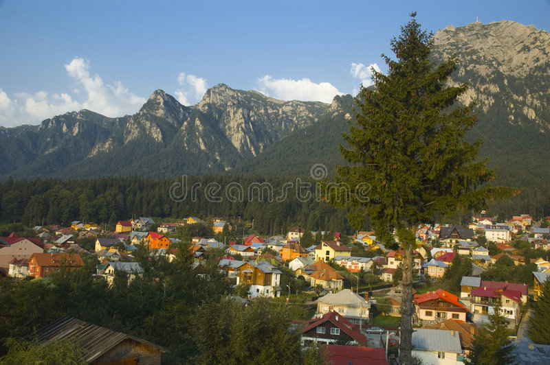 Mountain city royalty free stock photo