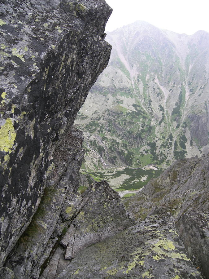Mountain cliffs royalty free stock images