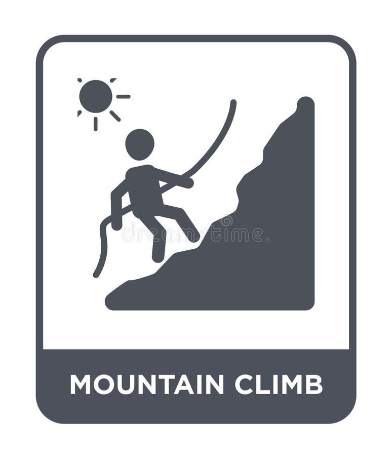 mountain climb icon in trendy design style. mountain climb icon isolated on white background. mountain climb vector icon simple vector illustration