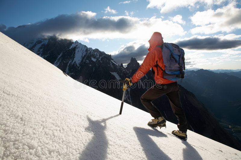 Mountain climber stock photography