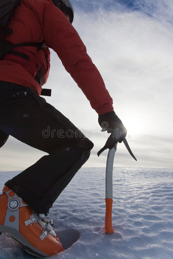Mountain climber royalty free stock photography