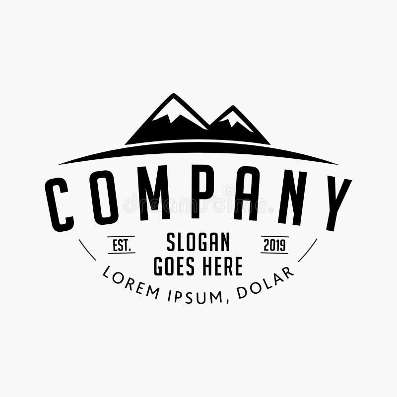 Mountain company logo. Mountain design template.Vector and illustrations. vector illustration
