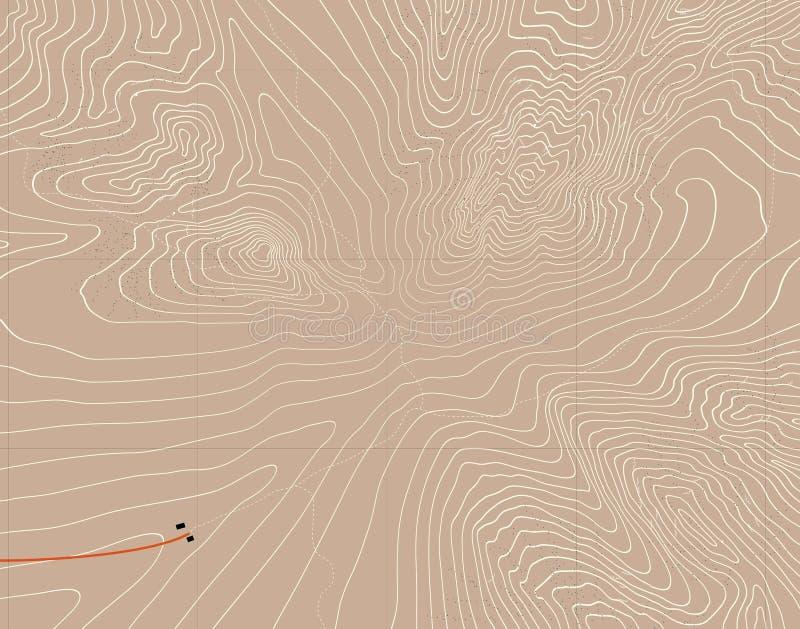 Mountain contours vector illustration
