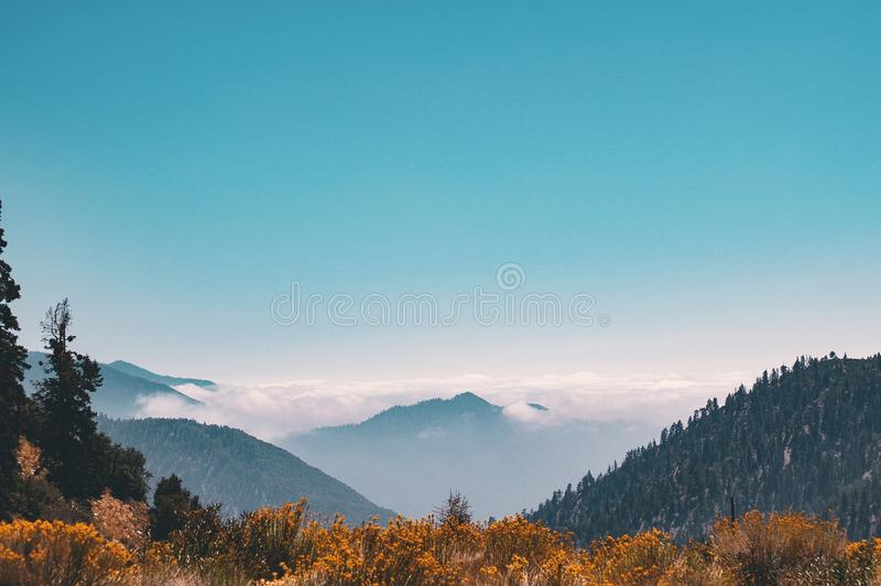 Mountain Covering Clouds royalty free stock photo