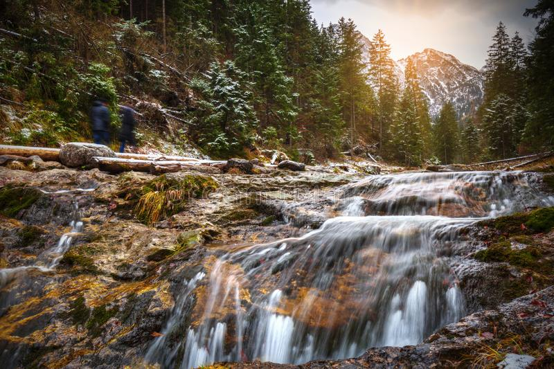 Mountain creek in Tatra mountains, Poland royalty free stock photos