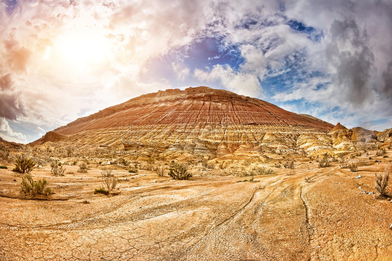 Mountain in desert stock photo