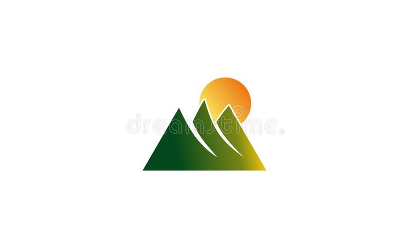 Mountain logo design. Mountain design logo with unique colors and shapes stock illustration