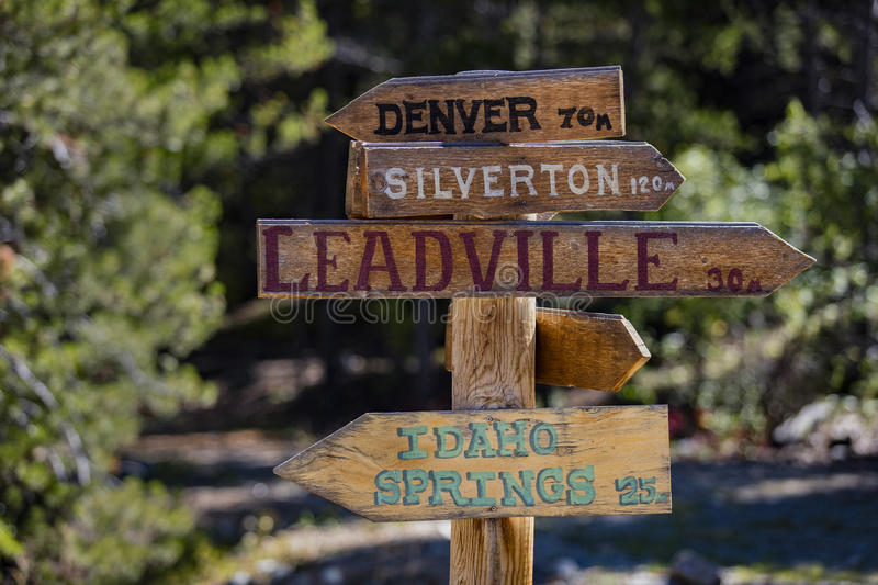 Mountain Directional Sign stock photography