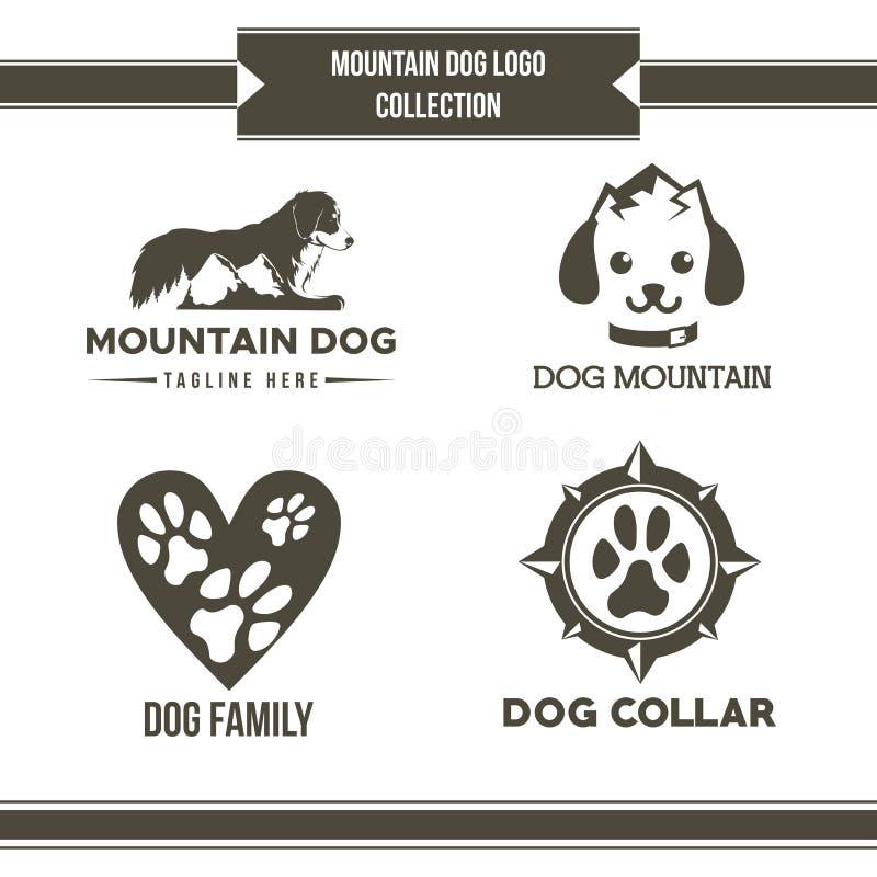 Mountain dog logo collection vector royalty free illustration