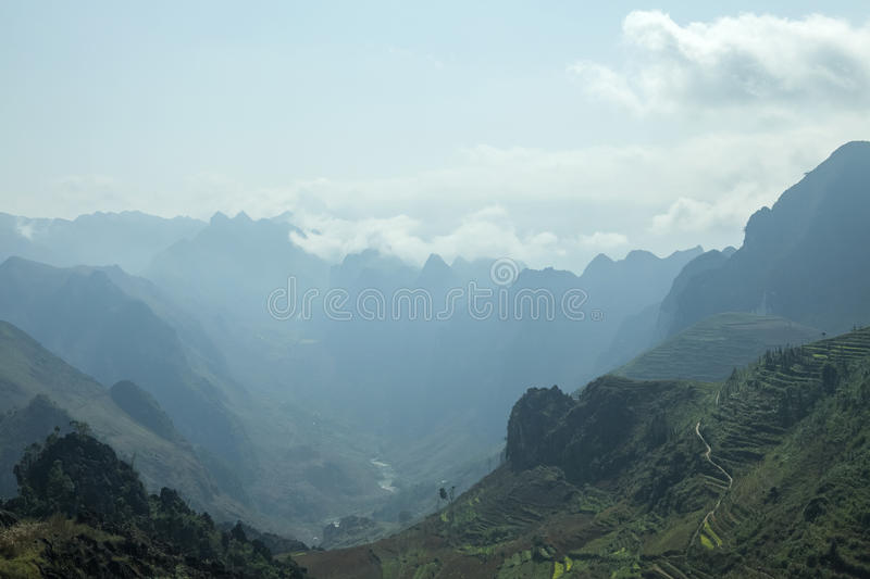 Mountain. In Van stone. Van Stone Plateau (natural or painted Van) is a rocky plateau spread over four districts of Quan Ba, Yen Minh, Van, Meo Vac, Ha Giang royalty free stock photo