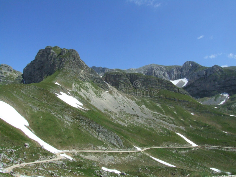 Mountain Durmitor. In Montenegro stock photography