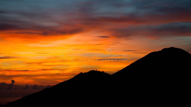 Download Mountain during Dusk Time stock image. Image of sunset - 83017473