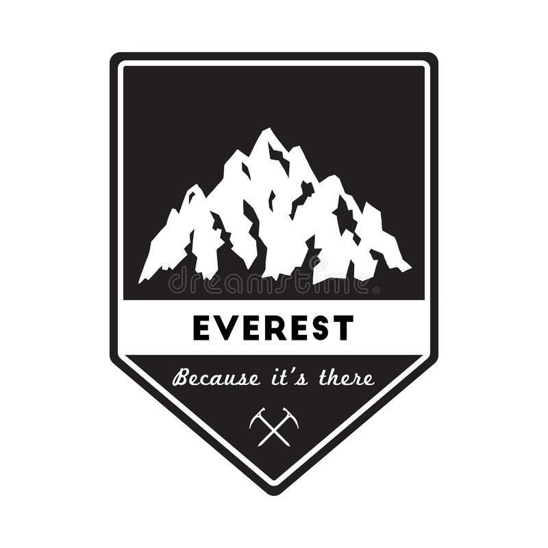 Mountain Everest outdoor adventure insignia. stock images