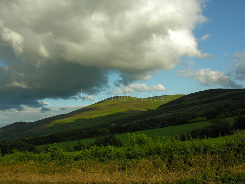 Mountain farm land in Ireland. stock images