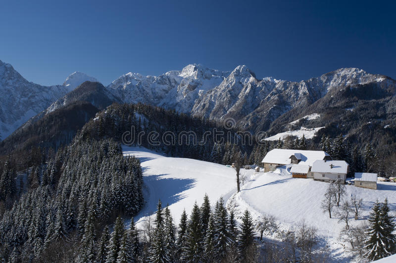 Download Mountain farm in winter stock image. Image of alps, rest - 22309755