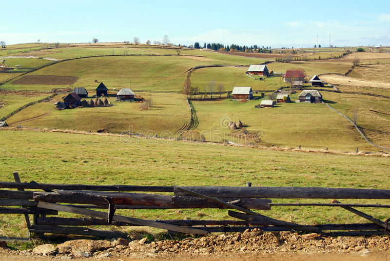 Mountain Farms Royalty Free Stock Photos