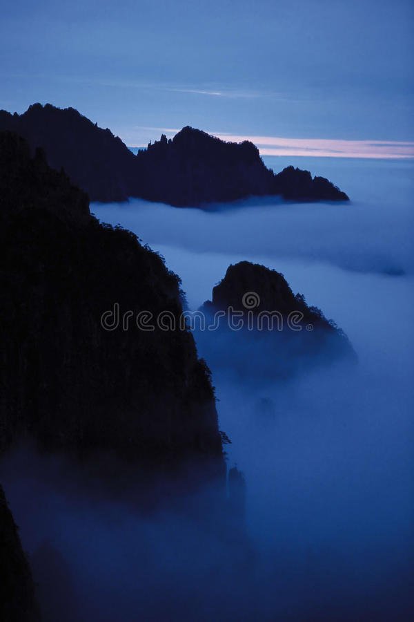 Mountain fog beautiful scene