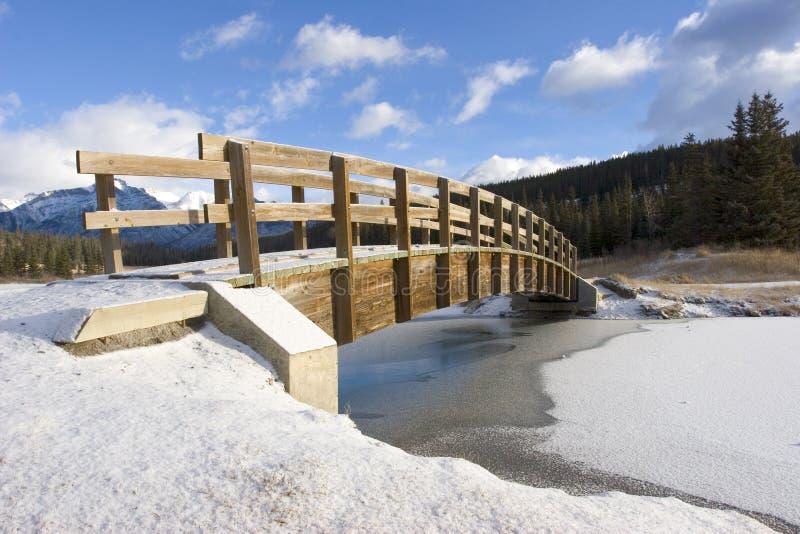 Download Mountain Footbridge In Winter 2 Stock Image - Image: 361777
