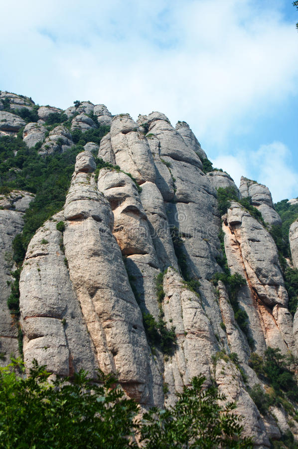 Download Mountain Formations In Montserrat Stock Photo - Image: 21035766