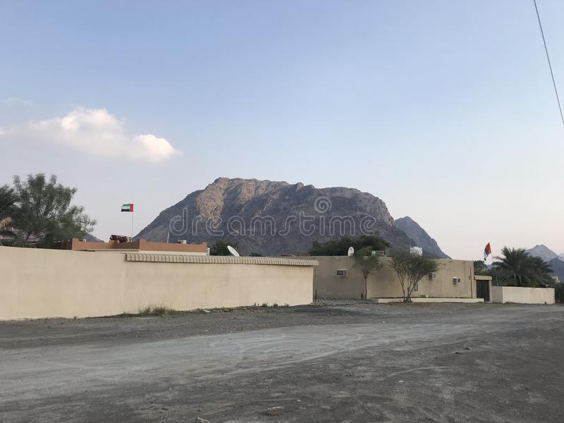 Mountain Fujairah. @ uae royalty free stock photos