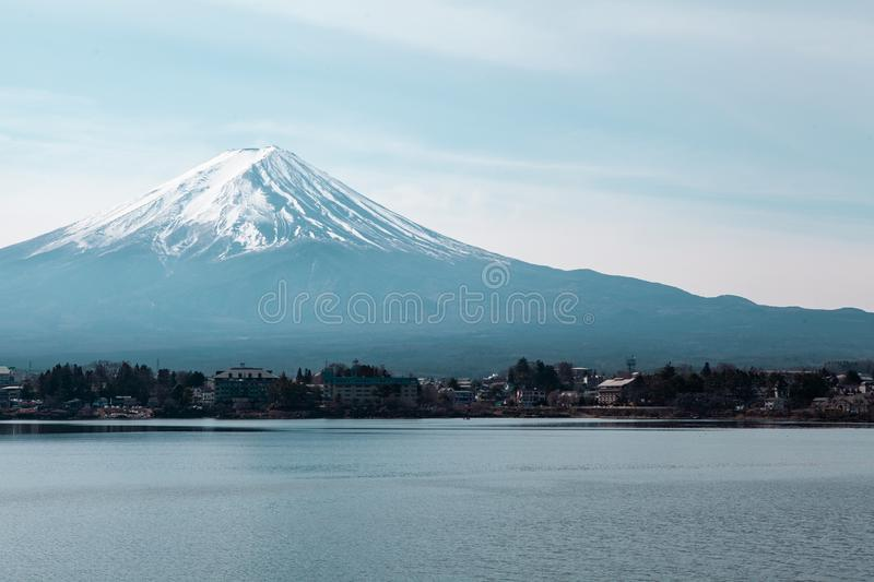 Mountain Fuji in Japan stock photo