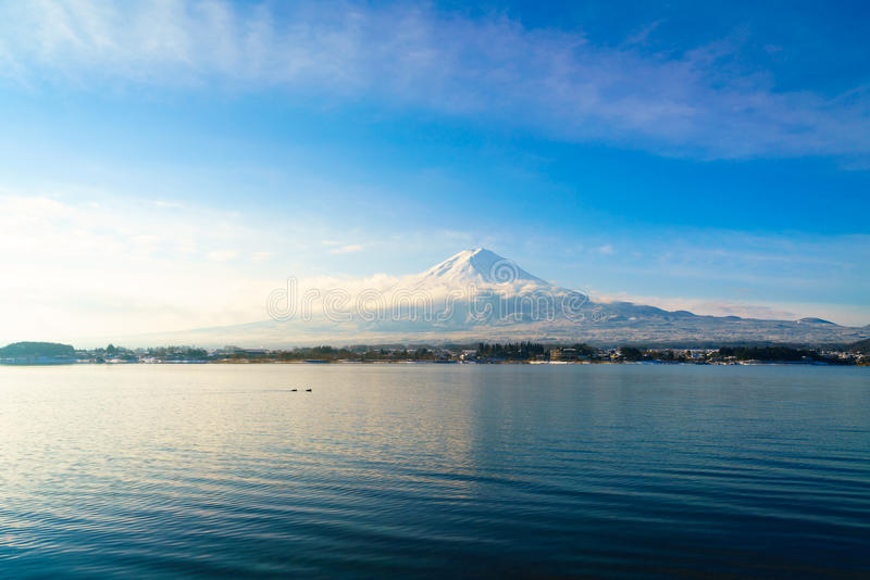 Mountain fuji and lake kawaguchi, Japan . royalty free stock image