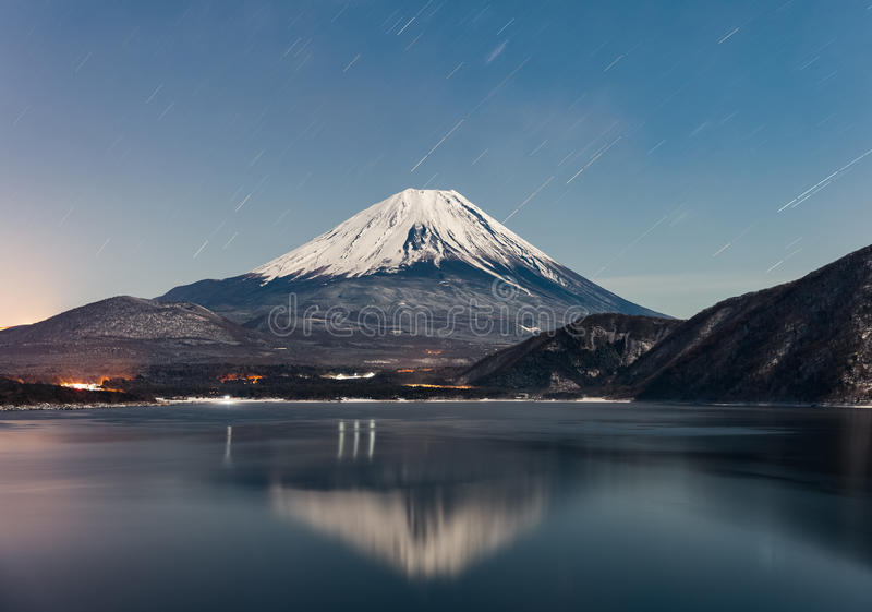Mountain Fuji and Lake Motosu royalty free stock images