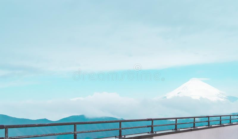 Mountain Fuji in winter royalty free stock photo