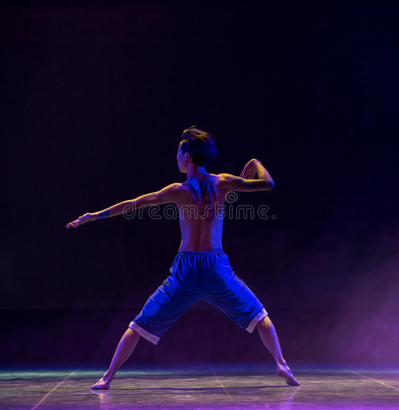 Mountain Ghost-Modern dance. Graduation performance of class5, grade 11, dancing department,Jiangxi Vocational Academy of Art on Dec30,2015 royalty free stock photo