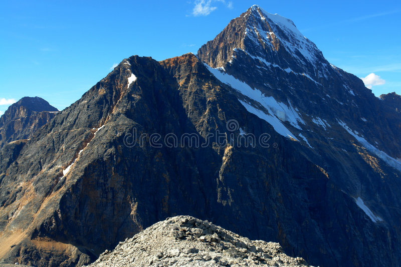 Mountain and glacier royalty free stock photography