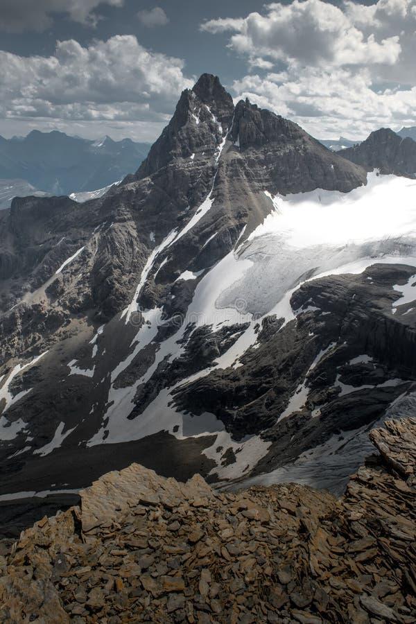 Mountain and glacier royalty free stock photo