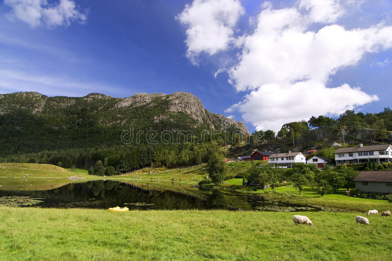 mountain green landscape royalty free stock photography