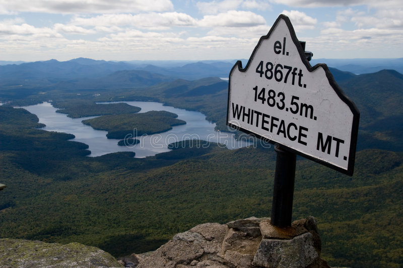 Mountain Height Signpost royalty free stock photography