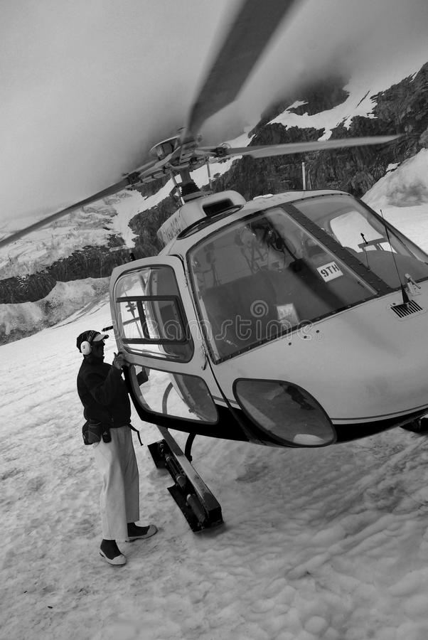 Mountain helicopter royalty free stock photography