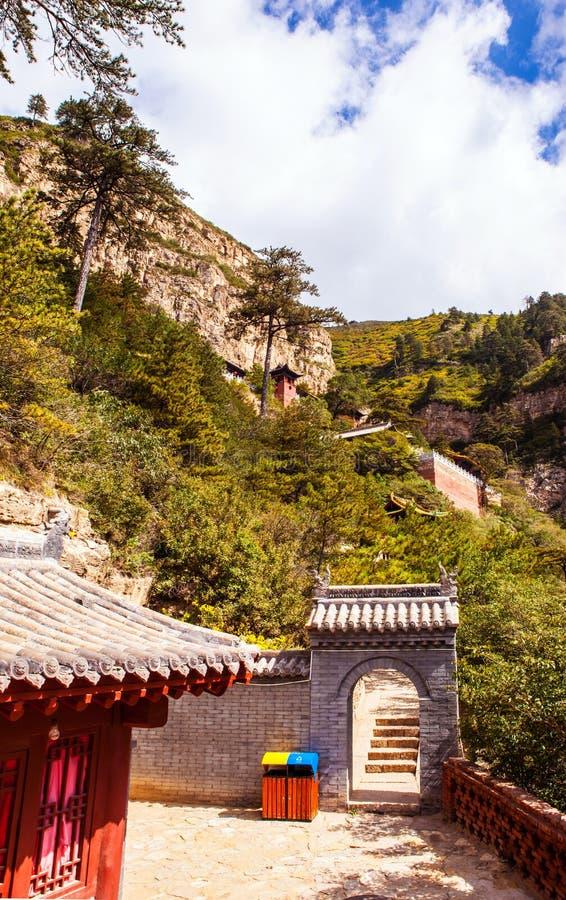 Mountain Hengshan(Northern Great Mountain) scene. royalty free stock photo