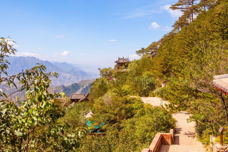 Mountain Hengshan(Northern Great Mountain) scene. stock image