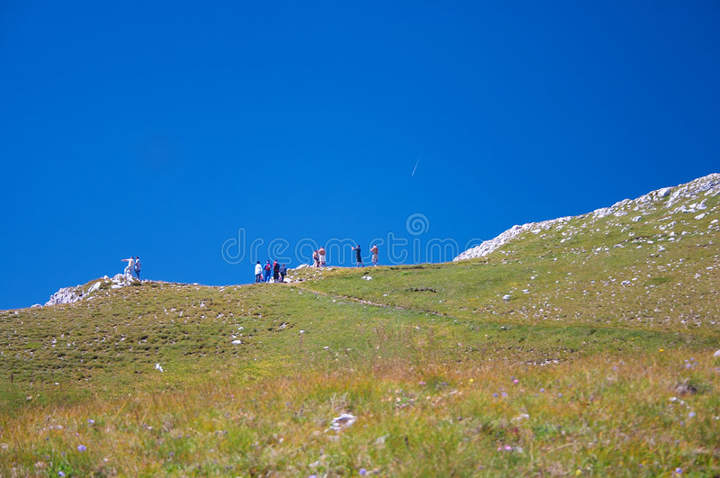 Mountain Hiking royalty free stock images