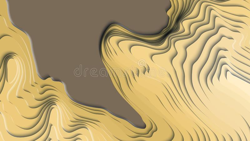 Mountain hiking. Map line of topography. Vector abstract topographic map concept with space for your copy royalty free illustration