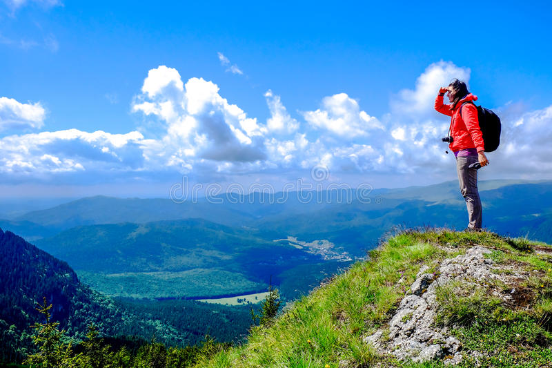 Mountain Hiking stock images