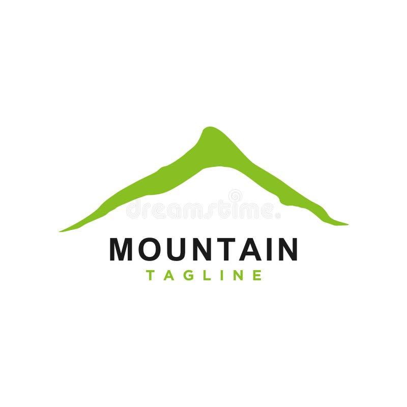 Mountain or hill or Peak logo design vector vector illustration