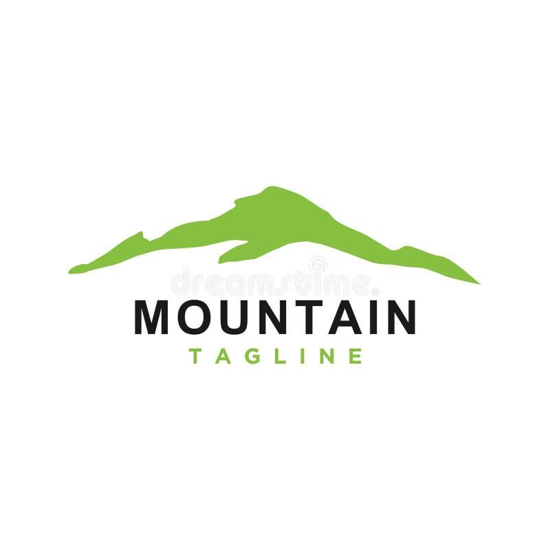 Mountain or hill or Peak logo design vector royalty free illustration