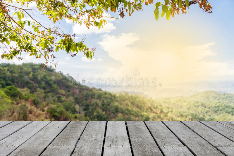 Mountain hill viewpoint beautiful scenery for background with royalty free stock image