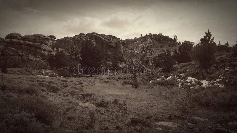 Mountain holler black and white edit. royalty free stock image