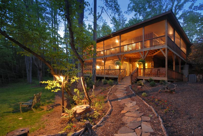 Download Mountain Home stock photo. Image of home, mountain, woods - 10752884