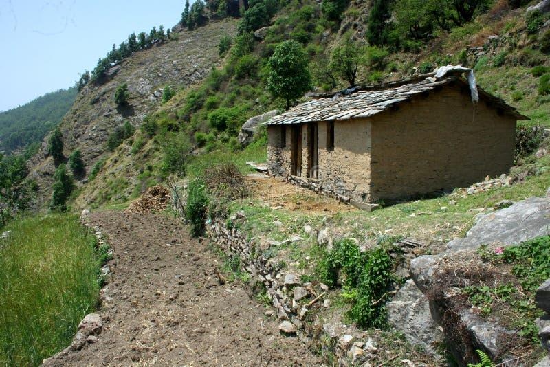 Mountain Hut stock photography