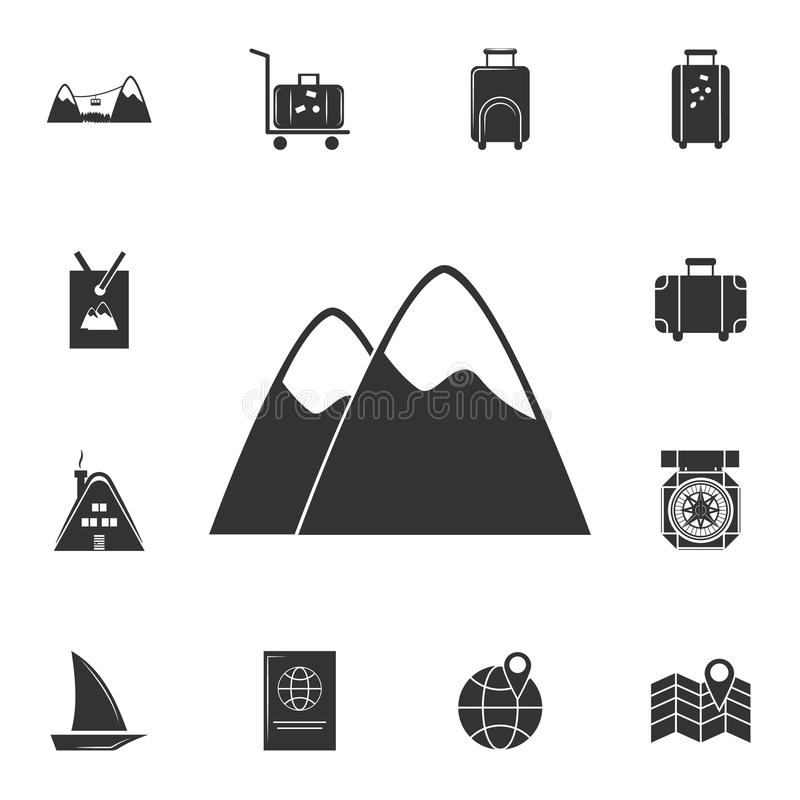 Mountain icon. Detailed set of travel icons. Premium graphic design. One of the collection icons for websites, web design, mobile. App on white background stock illustration