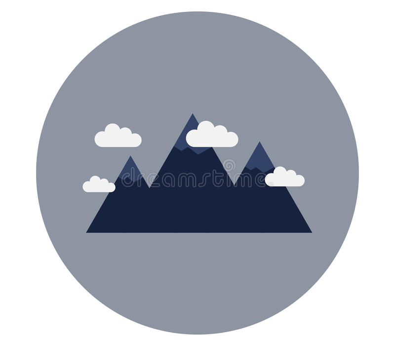 Mountain icon. On white background stock illustration